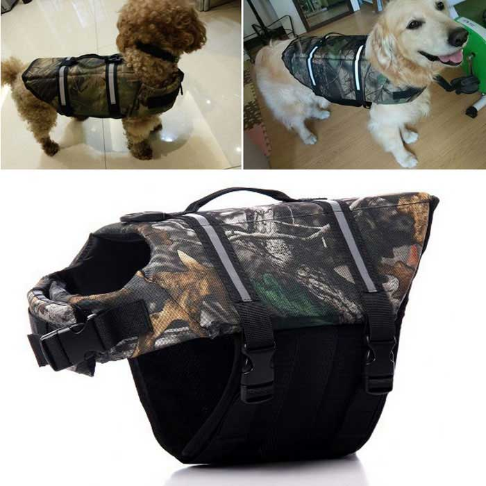 Dog Outdoor Dog Oxford Cloth Swimming Life Jackets (M)Pet Outdoor<br>Form ColorMaple CamouflageMaterialOxford clothQuantity1 DX.PCM.Model.AttributeModel.UnitSuitable ForDogPacking List1 * Pet life jackets<br>