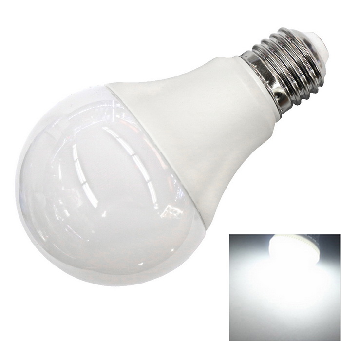 E27 9W 6500K 800LM Cold White Light 22-2835 SMD 270° Wide-Angle Bulb