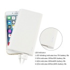 SP806 Power Bank Portable Charger 6000mAh External Battery - White