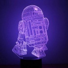 3D Round Bottom Touch Night Light Robot LED Colorful Gradient Lamp
