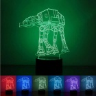 3D Stereoscopic Night Light Transporting Dog LED Colorful Lamp