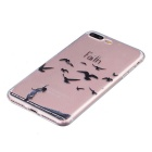 Faith Pattern TPU Protective Back Case for IPHONE 7 Plus - Transparent
