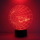 Stereo Night Light Plane Through The LED Colorful Gradient Table Lamp