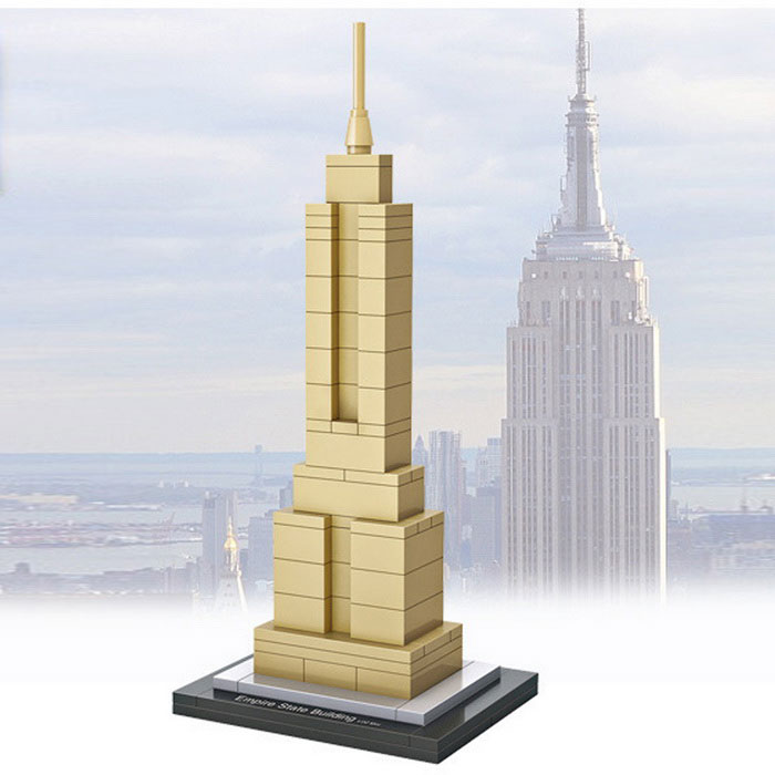 DIY Diamond Particles Empire Building Block Building Puzzle ToysBlocks &amp; Jigsaw Toys<br>Form  ColorWhite + MulticolorMaterialABSQuantity1 DX.PCM.Model.AttributeModel.UnitNumber77 PCSSize14.6 * 6cmSuitable Age 12-15 years,Grown upsPacking List1 * Empire State Building<br>