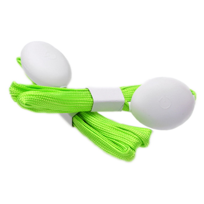 Fashion 10-LED Green Light Luminous Nylon Shoe Lace 3-Mode - Green