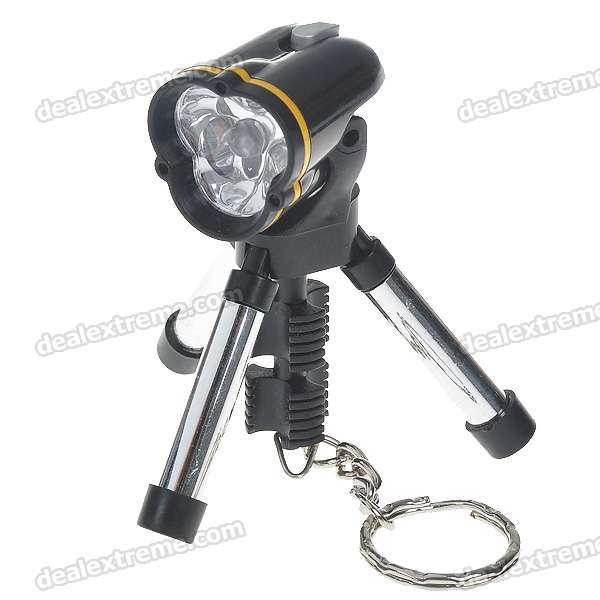 Cute Tripod White Light LED Flashlight Keychain (3*L736)