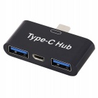 USB 3.1 Type C to 2 USB OTG HUB Adapter convertor for Macbook Chromebook Pixel / Huawei MateBook /P9