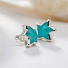 SILVERAGE Maldives Blue Starfish Stud Earrings