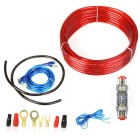 1500W 8GA Car Audio Subwoofer Amplifier Speaker AMP Wiring Fuse Holder Wire Cable Kit, Hot Selling