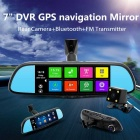 "Junsun 7"" Touch Special Car DVR Camera Mirror GPS16GB 1080p Recorder"