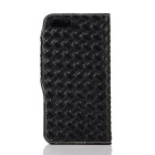 Mesh PU + TPU Flip Leather Case w/ Stand for IPHONE 7 Plus - Black