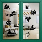 Removable DIY 3D Halloween Decorative Wall Sticker - Black