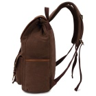 KAUKKO FS227 24L Retro Style Unisex Canvas Travel Backpack - Coffee