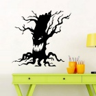 Removable DIY 3D Halloween Ghost Tree Decorative Wall Sticker - Black