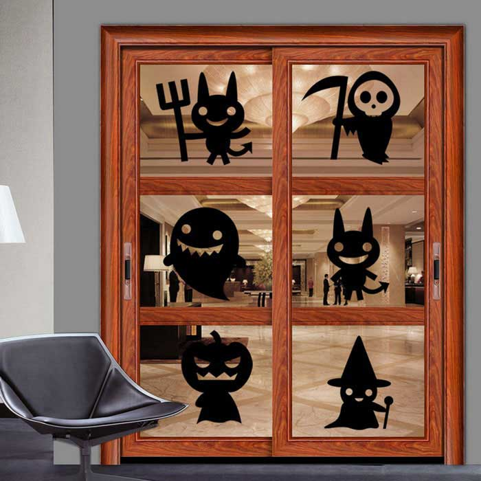 Removable DIY 3D Halloween Decorative Wall Sticker - BlackWall Sticker <br>Form  ColorBlackShade Of ColorBlackMaterialPVCQuantity1 DX.PCM.Model.AttributeModel.UnitStyleContemporaryDimension42*52 DX.PCM.Model.AttributeModel.UnitPacking List1 * Wall sticker<br>
