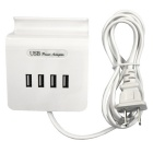 20W 100~240V 4-USB 4A USB Charging Socket Phone Holder (US Plugs)