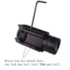 RichFire SF-P27 300lm Knob Focus 5mW Red Laser Sight + CREE XPG2 S4 White LED Pistol