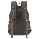 KAUKKO FS227 24L Retro Style Unisex Canvas Travel Backpack - Grey