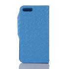 Mesh PU + TPU Flip Leather Case w/ Stand for IPHONE 7 Plus - Blue