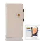 Mesh PU + TPU Flip Leather Case w/ Stand for IPHONE 7 Plus - White