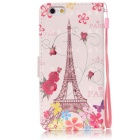 BLCR Butterfly Tower 3D Pattern Protective Case for IPHONE 6/6S - Pink