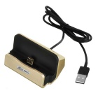 Mini Smile Micro USB OTG Charging Dock w/ Data Cable - Golden
