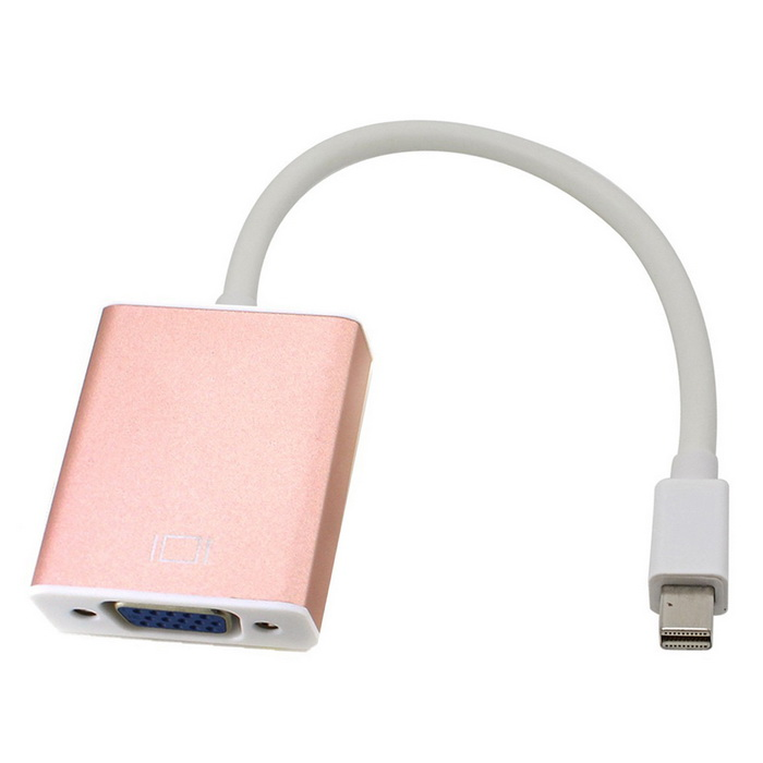 Mini Thunderbolt Mini DisplayPort DP To VGA Adapter Cable -  Rose Gold