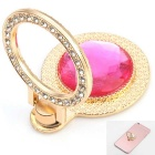 Adjustable Diamond Ring Style Phone Stand for Mobile Phone - Pink