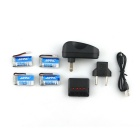 X4A-A13 4-Batteries 1-to-4Charger TOL Converter Charger Data Cable Set