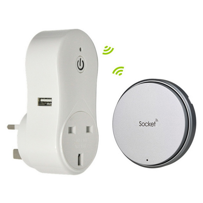 Self-powered RF Wireless No WIFi Bluetooth Smart Socket Outlet UK Plug