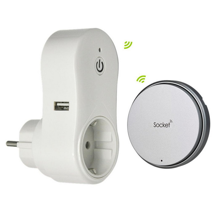Battery-free RF Smart Wireless Remote Control Light Switch and Socket