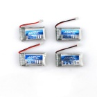 X4AD04 4-260mAh Batteries + 1-to-4 Charger + More Set - Blue + Red