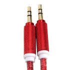 3.5mm Male to Male AUX Audio Connection Cable - Red (1m)