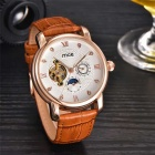 MCE Tourbillon Fully Automatic Mechanical Watch - Brown + White