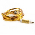 3,5 mm macho a cable de conexión de audio AUX masculina - oro (1m)