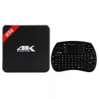 H96 Quad-Core TV Box Player w/ 1GB RAM, 8GB ROM - Black (US Plugs)