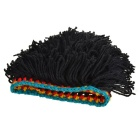 Handmade Chic Woolen Wicker Hat for Men Women - Black