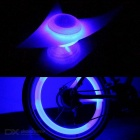 Outdoor Silicone 3-Mode Bicycle Cycling Wheel Light - Blue