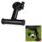 Bicycle Clip Extended Frame Bracket Support for Flashlight Lamp - Black