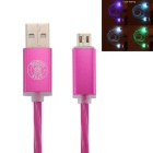 Hat-Prince LED Flash Data Charger Cable for Android Phone -  Deep Pink