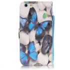BLCR Blue Butterfly 3D Pattern Protective Case for IPHONE 6 / 6S