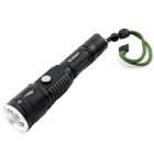 E-SMART 10W T6 Zooming Strong LED Flashlight w/ Power Bank - Black