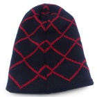 Fashion Stripes Pattern Hip-Hop Style Knit Cap Hat - Black + Red