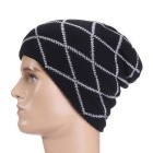 Fashion Outdoor Stripes Pattern Hip-Hop Style Knit Cap Hat - Black