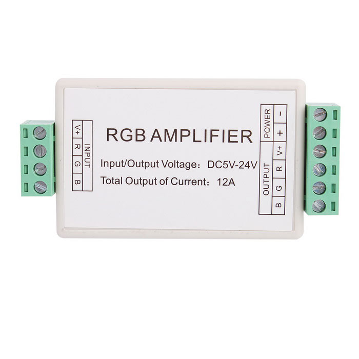 3-Channel Light RGB Amplifier Controller for RGB LED Strip (DC 5-24V)
