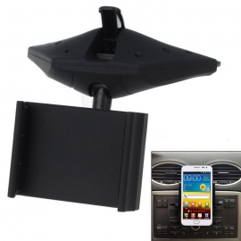 360-degree Rotating Car CD Navigation Cell Phone Holder - Black