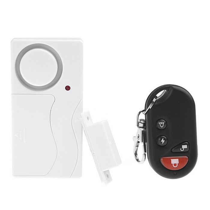 Remote Control Home Security Alarm Warning System with Magnetic SensorOther Security Products<br>Form  ColorWhiteMaterialABSQuantity1 DX.PCM.Model.AttributeModel.UnitRemote Control Range10~20 DX.PCM.Model.AttributeModel.UnitVoice Decibels105dBPower SupplyAAABattery included or notNoBattery Number2Power AdapterBatteryOther FeaturesWorking temperature: -10 ~ 60°C <br>Working humidity: Below 80% <br>Storage temperature: -20°C ~ 70°CPacking List1 * Security Alarm 1 * Magnetic Stick 1 * Remote Control<br>