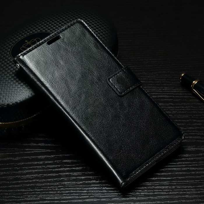 Wallet Case w/ Stand, Card Slots for Sony Xperia X Performance - Black