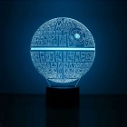 3D Stereoscopic Planet LED Night Light Colorful Gradient Lamp - White