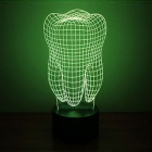 3D Three-Dimensional Night Light Big Tooth Style LED Colorful Lamp